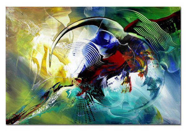 """abstrakte Kunst Wandbild, Dieu: """"Zuneigung III"""""""