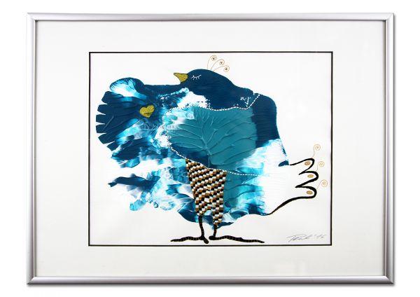 """Kunst im Objekt-Rahmen """"Herzenswunsch"""" Acryl auf Karton mit Passepartout"""
