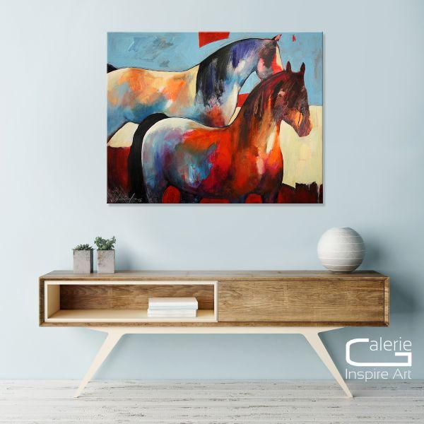 "Abstrakte Kunst von Elena Drobychevskaja: ""Pferde"""