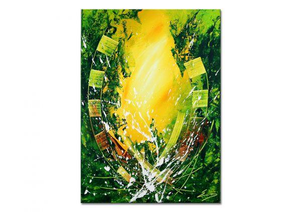 abstrakte kunst grün