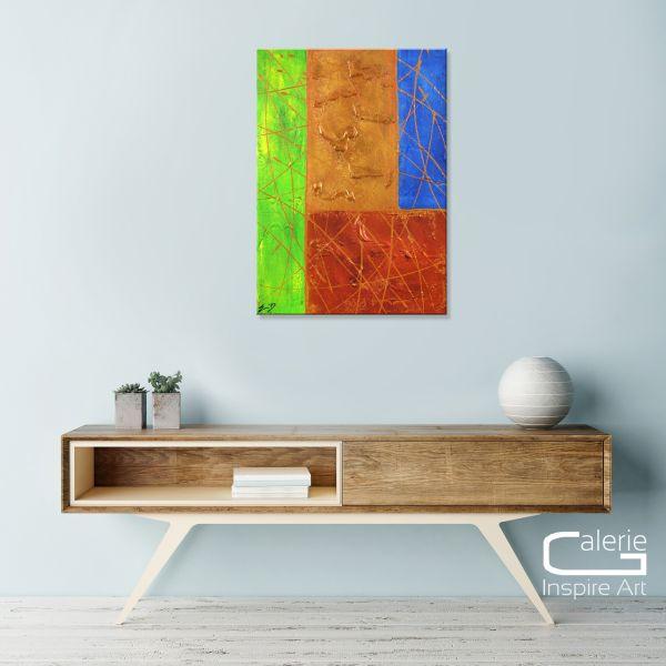 """""""Introversion"""" brilliantes Gemälde, bildende Kunst modern"""