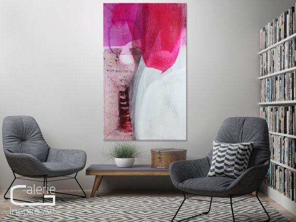 """Floral abstrakte Gemälde kaufen, """"Weltengarten XXII"""" Acrylkunst"""