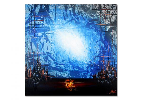 kunst modern blaue bilder