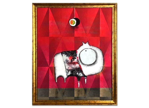 """Rendle: """"WHAU SHI III"""" Glasbilder mit stilvollem Rahmen"""