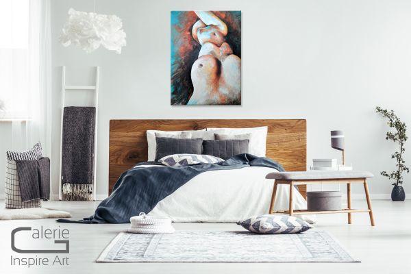 """""""Akt 005"""" abstrakter Frauenakt, Gemälde in Acryl"""