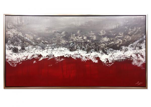 """Kunst UNIKAT modern, Etienne Donnay: """"Roter Nebel"""""""