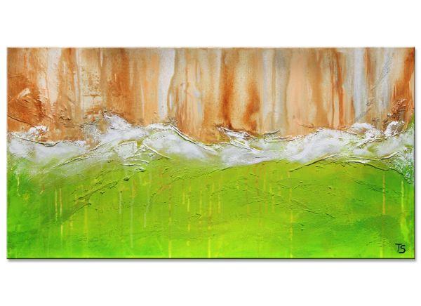 Sometimes Gemälde grün modern frisch