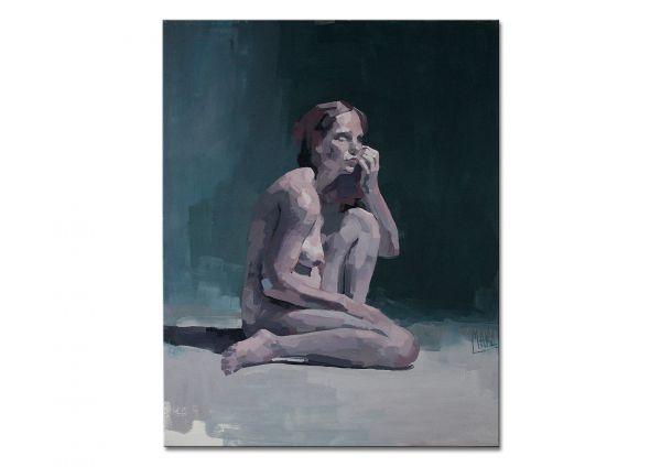 """Sitzender Akt, moderne Aktmalerei, Marz: """"Act154"""""""