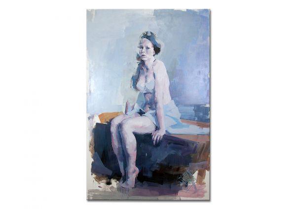 "Frauenakt, Aktbild Gemälde, M.Marz: ""Act 114"" (RI)"