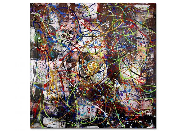 """Modernes Gemälde in Acryl von Dieu: """"Zuneigung"""""""