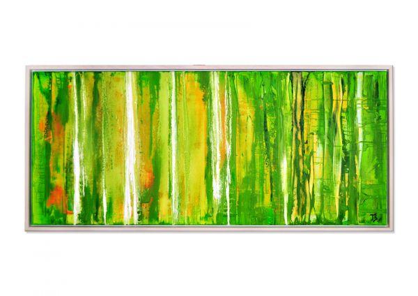 "Abstraktes Gemälde kaufen, Th.Stephan: ""Grünes Mineral (Epidot)"" MVZ"