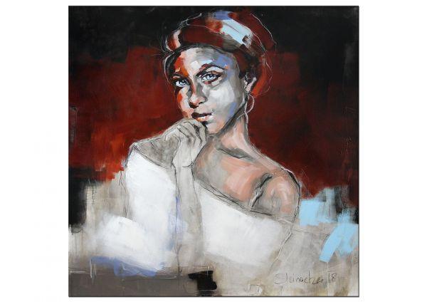 """Bildende Kunst, Gemälde modern von M.Steinacher: """"Lady II"""""""