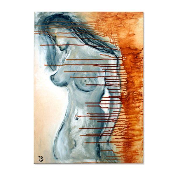 "Moderner Frauenakt Gemälde, Künstler Th.Stephan: ""Aktgemälde I"""