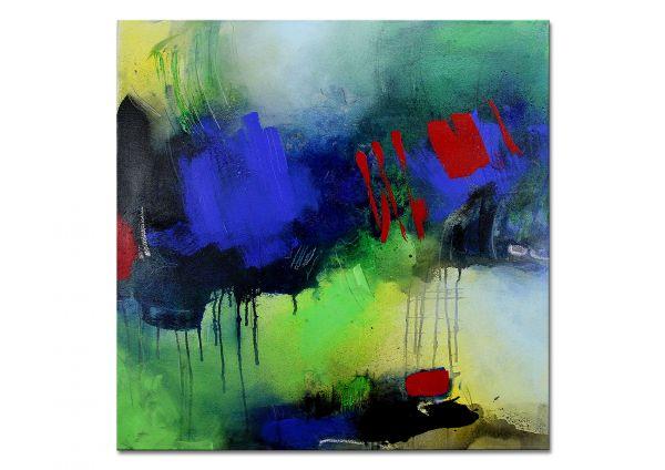 """Acrylbilder abstrakt, Michaela Steinacher: """"Green"""" Gemälde für Büro"""