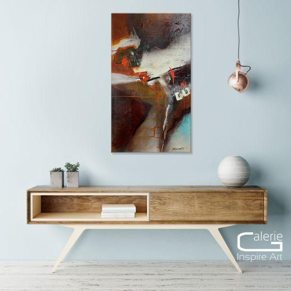 "Abstrakte Acrylmalerei, Michaela Steinacher: ""Bronze"""