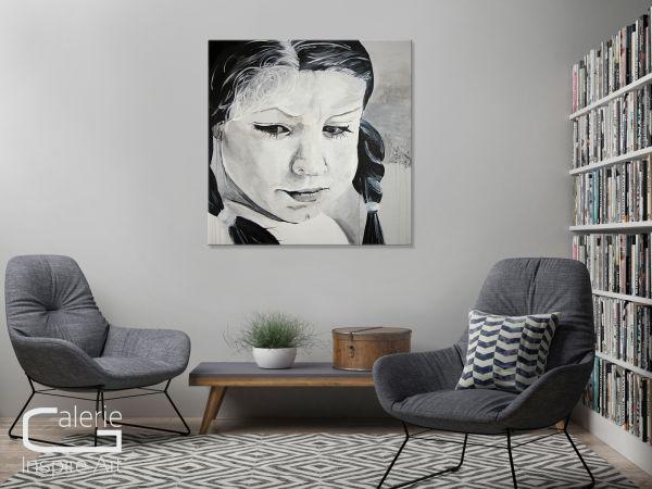 Gemälde Portrait Mädchen