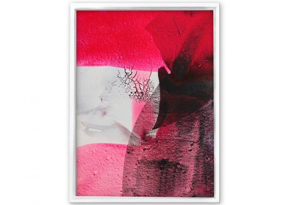 Moderne Malerei in rot weiß