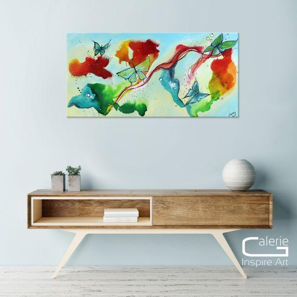 """Butterfly Paradise"" Acrylgemälde von Yosi Losaij - handgemalt"
