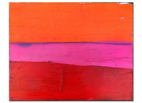 auszeit wachsmann gemälde rot rosa orange