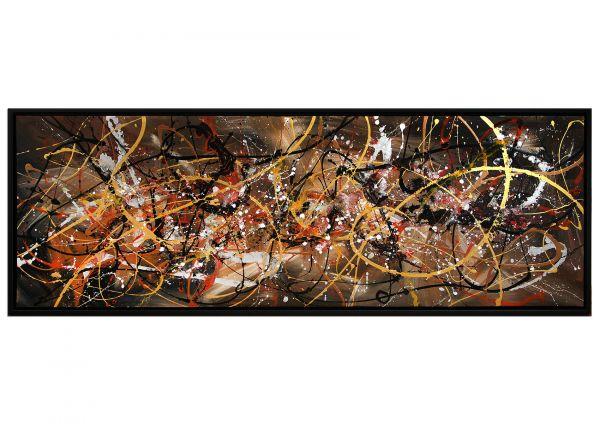 Kosmischer Besuch, Gemälde Acryl