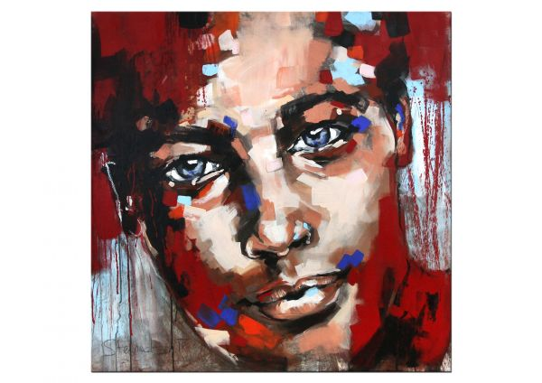 Portrait Malerei wie Françoise Nielly