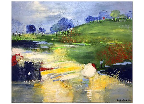 "Abstrakte Landschaft Inge Philippin ""So Far Away (Dire Staits)"""