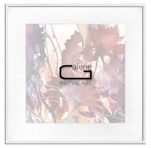 Bilderrahmen mit Passepartout weiß Museumsglas Holz 13x18 cm neu
