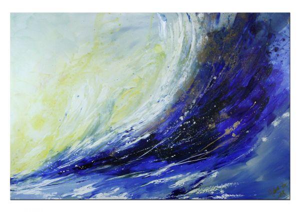 "ART BRUT Kunst: ""Ozean"" dynamisches Acrylgemälde"