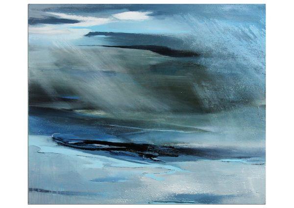 Gemälde blau: Ein Sommer am Meer