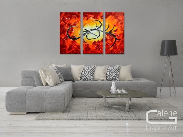 """Moderne Malerei E.Donnay: """"Sonnenglut"""" abstraktes Gemälde"""