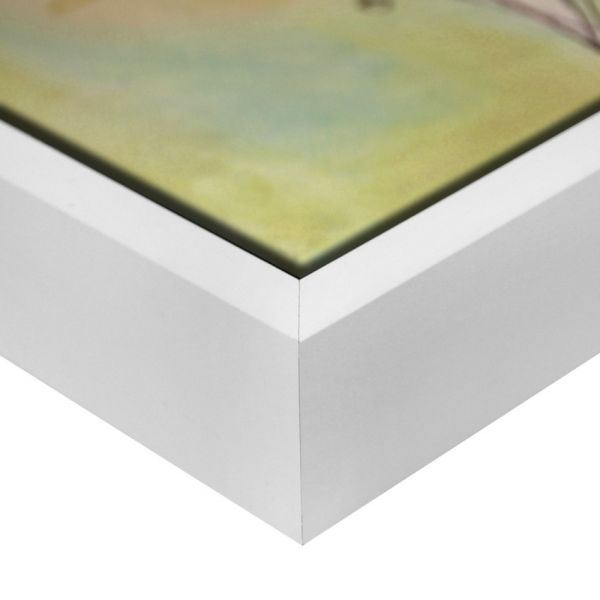 PREMIUM Massivholz Schattenfugenrahmen, weiß (SFR-M6460A14-XL), passgenaue Maßanfertigung
