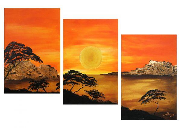 """3-teiliges Gemälde von Etienne Donnay: """"Eternal Nature"""""""