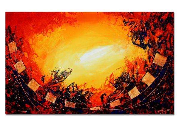 """Bild abstrakte Kunst, Etienne Donnay: """"Mit offenen Armen"""""""