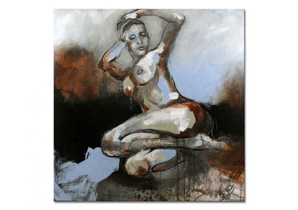 """Modernes Aktgemälde, Aktmalerei, Michaela Steinacher: """"In Pose I"""""""
