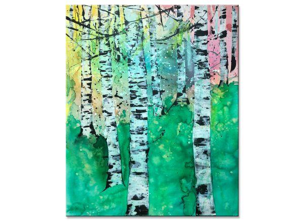 birkenwald gemälde modern wald Birken inspire