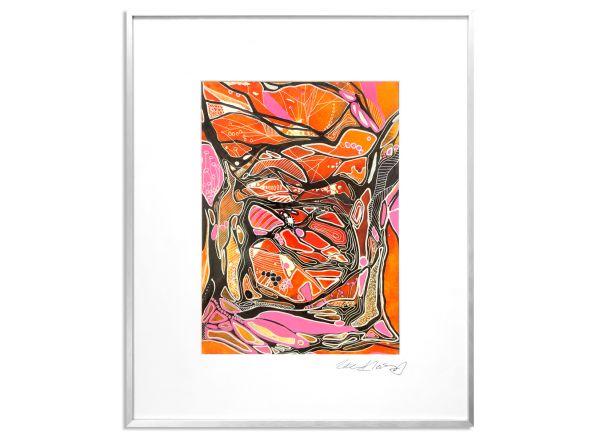 verbindungen ute kleist orange Bild rahmen nielsen