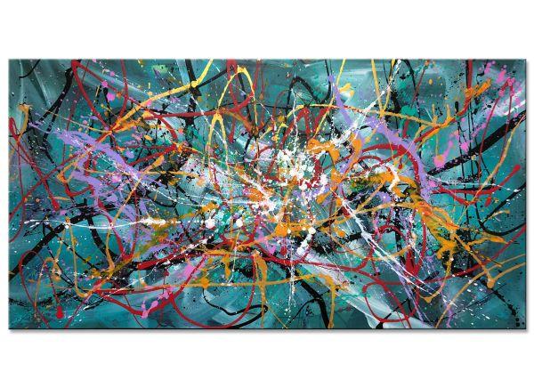 abstrakte kunst malerei wie Jackson Pollock