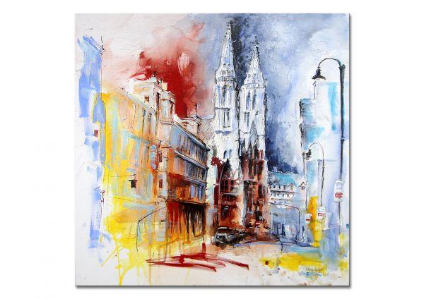 """Acrylgemälde kaufen, M.Steinacher: """"Stadtansicht 2"""""""