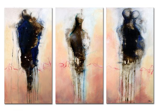 """Berührung"" - modernes Ölbild - abstrakte Kunst"
