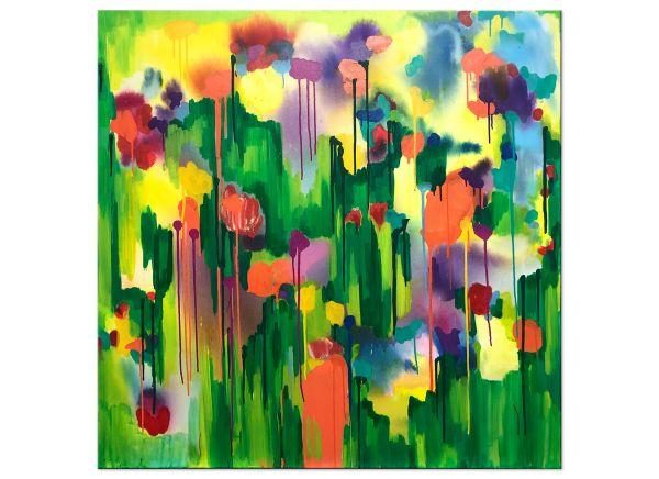 FLOWERS Blumen Malerei abstrakt bunte bilder