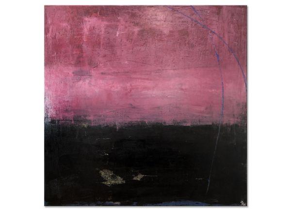 "Gemälde ""Die Nacht geht"" abstraktes Leinwandbild"