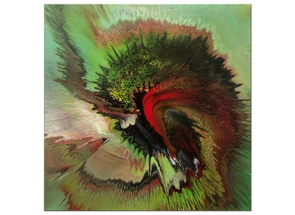 moderne kunst grün Dogma_60x60-voll