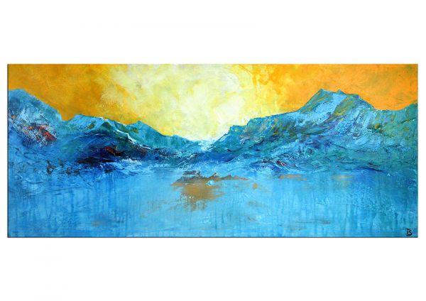 """Blue Mountain (Am Gletscher)"" mehrschichtiges Gemälde - abstrakte Landschaft"