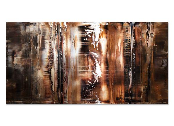 abstrakte Bilder in braun kaufen