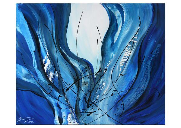 """""""Firmament"""" blaues Gemälde, Kunst Bilder kaufen"""