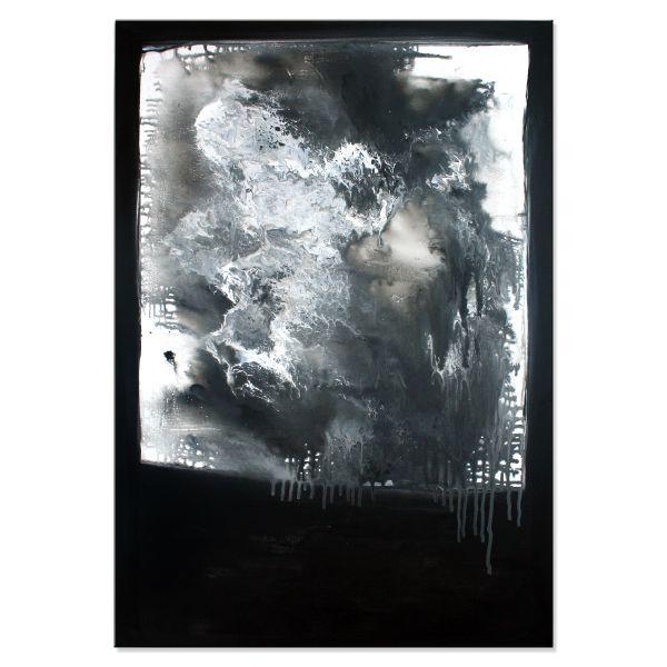 """""""Tempted"""" - abstraktes Unikat auf Leinwand in schwarz & weiß - Kunst Gemälde"""