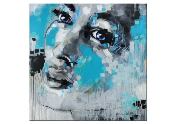 Eyes V Portrait gemalt Kunst