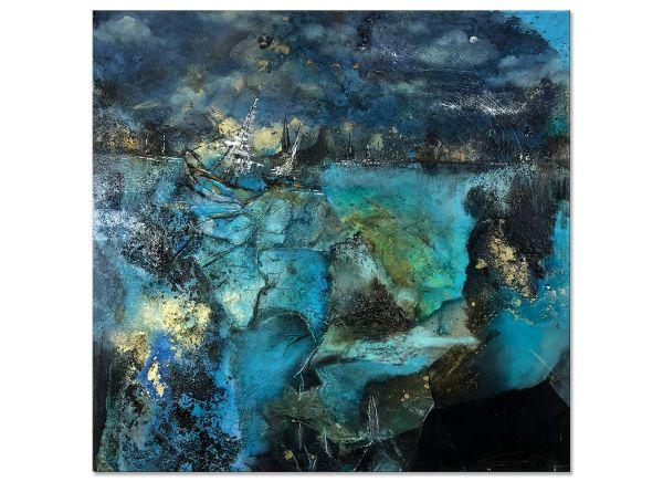 Tiefe des Meeres Malerei abstraktes Acrylbild
