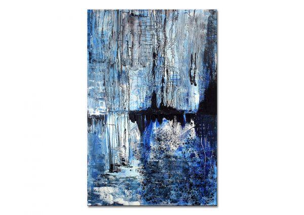 """""""Wintermorgen"""" - zeitgenössisches Kunstwerk - abstrakte Malerei"""