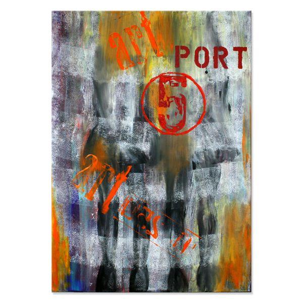 """""""Port.05"""" - abstraktes Kunstwerk in Acryl - moderne Kunst"""